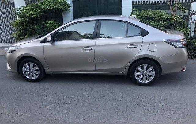 Cần bán Toyota Vios E 2017 số sàn, màu nâu vàng, biển số TP0