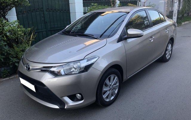 Cần bán Toyota Vios E 2017 số sàn, màu nâu vàng, biển số TP1