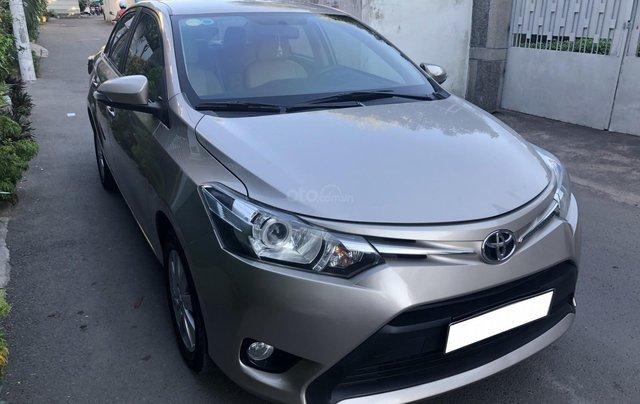 Cần bán Toyota Vios E 2017 số sàn, màu nâu vàng, biển số TP2