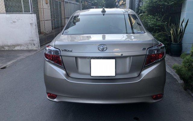 Cần bán Toyota Vios E 2017 số sàn, màu nâu vàng, biển số TP4