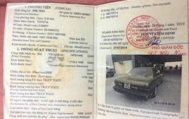 Bán gấp Toyota Camry đời 1990, màu xám, nhập khẩu 4
