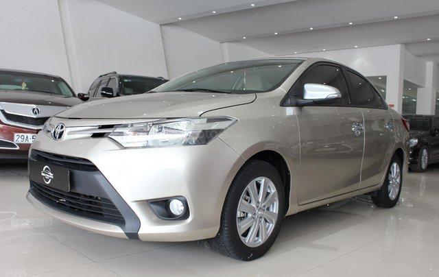 Bán ô tô Toyota Vios LX đời 2017, màu vàng cát, giá tốt9