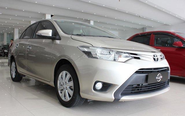 Bán ô tô Toyota Vios LX đời 2017, màu vàng cát, giá tốt12