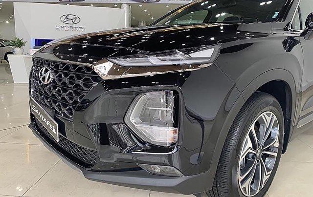 Bán ô tô Hyundai Santa Fe 2.2L HTRAC đời 2019, màu đen0