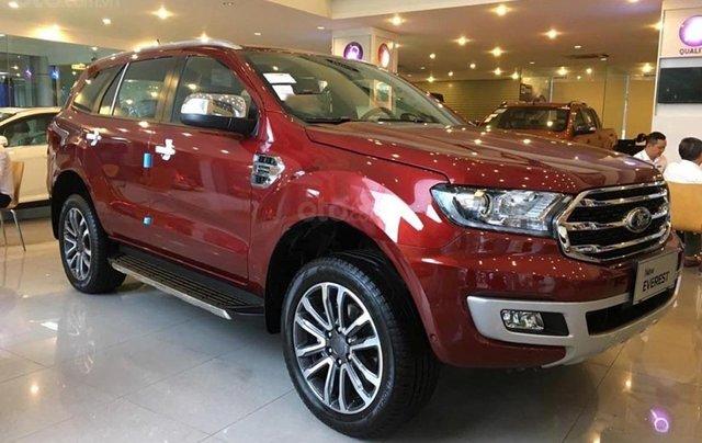Bán Ford Everest Titanium 2.0L 4x4 AT năm 2019, màu đỏ, xe nhập0