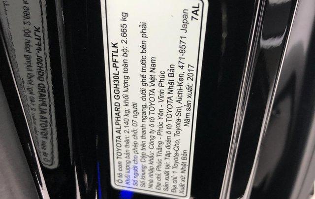 Bán Toyota Alphard 3.5L - V6 sản xuất 2017 model 20186