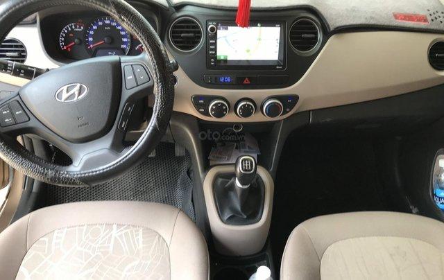 Bán Hyundai Grand i10 sedan 1.2MT màu nâu titan, số sàn, bản đủ, sản xuất 20181