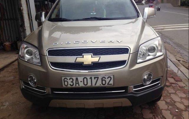 Cần bán xe Chevrolet Captiva đời 2009, màu vàng cát, số sàn0