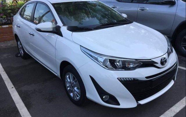 Bán Toyota Vios G 1.5CVT 2019, màu trắng, giá 571tr2