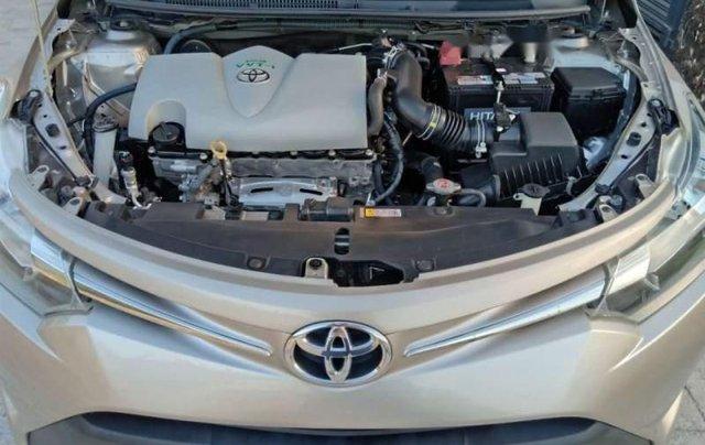 Bán Toyota Vios sản xuất 2017, màu vàng cát như mới, giá 465tr5