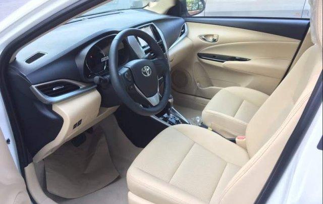 Bán Toyota Vios G 1.5CVT 2019, màu trắng, giá 571tr4