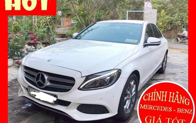 Bán xe Mercedes C200 trắng/kem đời 2017 cũ chính hãng. Trả trước 400 triệu nhận xe ngay0