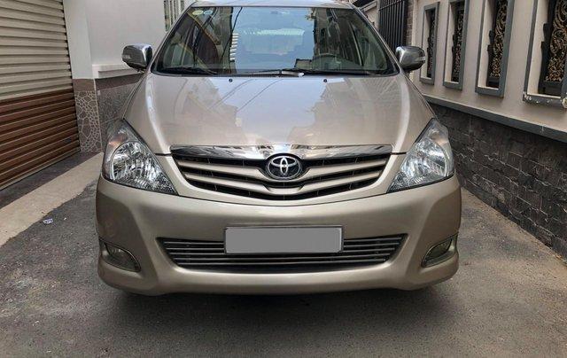Cần bán Toyota Innova G SR 2011, số sàn, màu vàng cát5