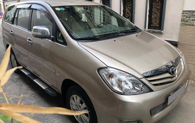 Cần bán Toyota Innova G SR 2011, số sàn, màu vàng cát12