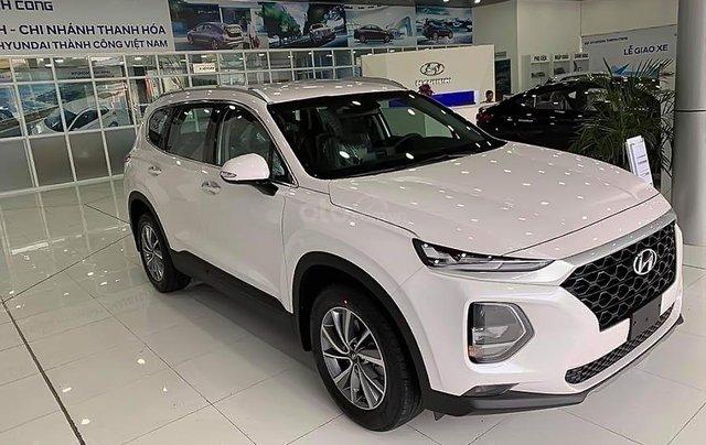 Bán xe Hyundai Santa Fe 2.4L đời 2019, màu trắng0