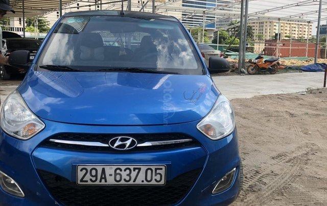 Bán xe Hyundai Grand i10 đời 2011, màu xanh lam, nhập khẩu1