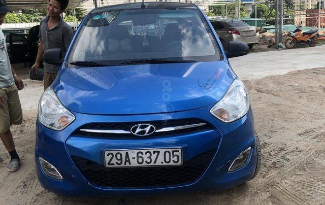 Bán xe Hyundai Grand i10 đời 2011, màu xanh lam, nhập khẩu2