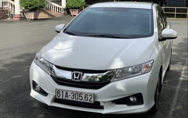 Bán Honda City 1.5 CVT Sx 08/2016, màu trắng, máy xăng, số tự động, tư nhân chính chủ, một chủ từ đầu0