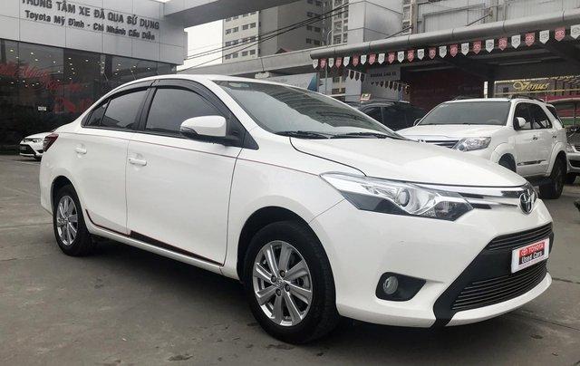 Cần bán xe Toyota Vios 1.5G AT 2017, màu trắng giá cạnh tranh0