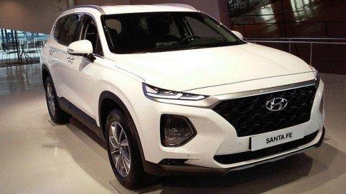 Bán Hyundai Santa Fe 2.4 AT năm sản xuất 2019, màu trắng 1