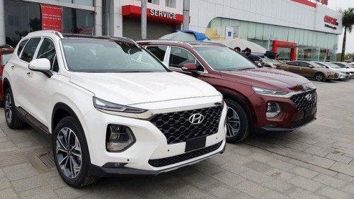 Bán Hyundai Santa Fe 2.4 AT năm sản xuất 2019, màu trắng 0