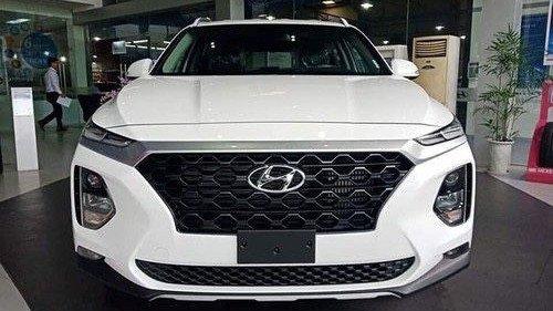 Bán Hyundai Santa Fe 2.4 AT năm sản xuất 2019, màu trắng 4