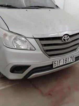 Cần bán lại xe Toyota Innova đời 2015, màu bạc, xe công ty xuất hóa đơn một nốt nhạc0