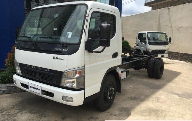 Bán xe tải Mitsubishi Fuso Canter 7.5 ga cơ tải 4.3 tấn thùng dài 5m2, hàng hiếm0
