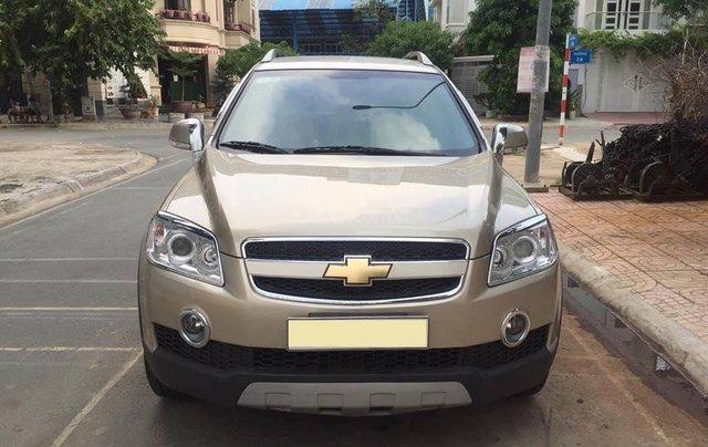 Cần bán xe Chevrolet Captiva 2010 số sàn máy dầu, màu vàng cát1