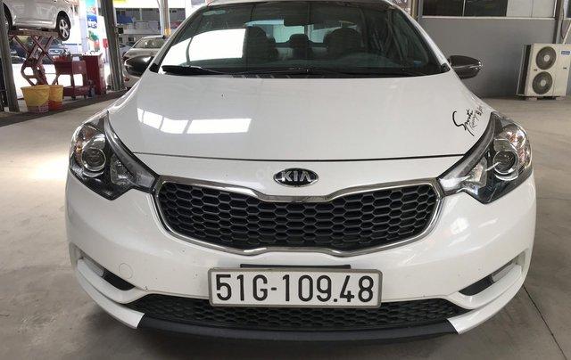 Bán Kia K3 1.6MT màu trắng số sàn sản xuất 2015 biển Sài Gòn đi đúng 34000km xe đẹp chuẩn8