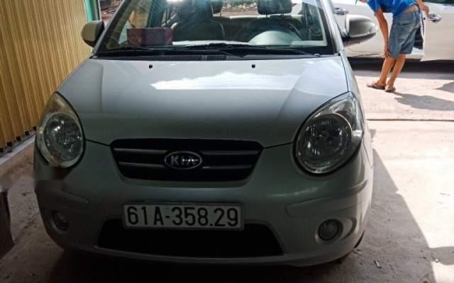 Bán Kia Morning AT đời 2008, màu bạc, xe đẹp2