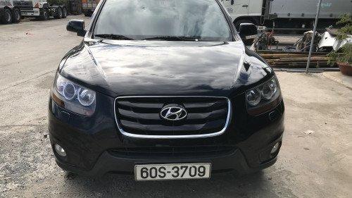 Bán Hyundai Santa Fe 2.0 AT đời 2009, màu đen, 640tr 0