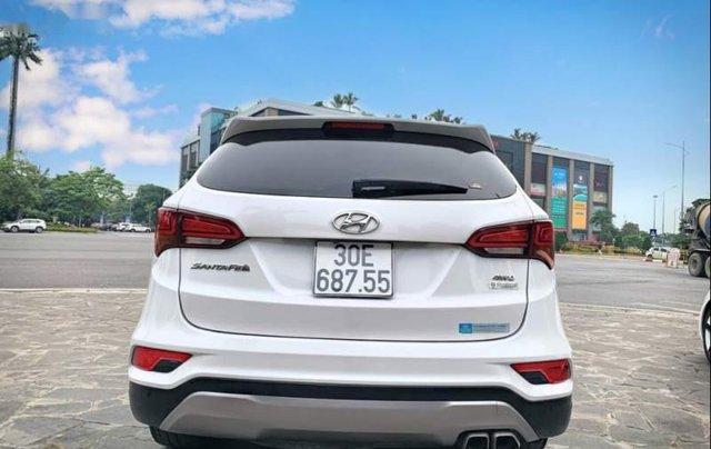 Bán Hyundai Santa Fe 2.4AT 2016, màu trắng, nhập khẩu nguyên chiếc như mới, giá tốt1