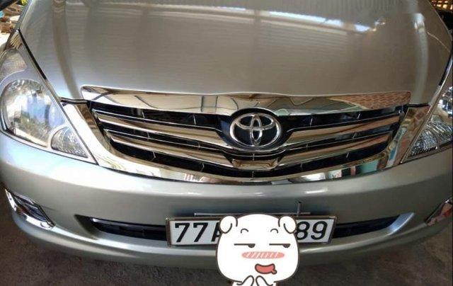 Cần bán xe Toyota Innova đời 2008, màu bạc, xe nguyên bản4