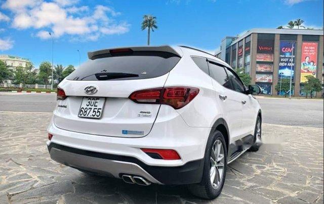 Bán Hyundai Santa Fe 2.4AT 2016, màu trắng, nhập khẩu nguyên chiếc như mới, giá tốt2
