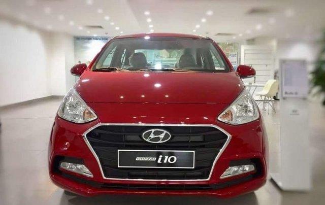 Bán Hyundai Grand i10 2019, màu đỏ, giá 350tr0