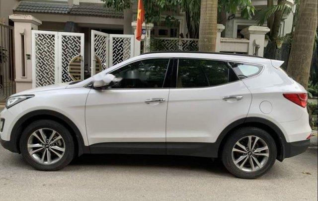Bán xe Hyundai Santa Fe đời 2016, màu trắng, đăng kiểm lần đầu 2/2016, đi 4 vạn km1