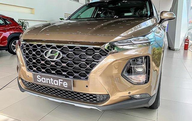 Bán Hyundai Santa Fe 2.4L HTRAC năm sản xuất 2019, màu nâu1