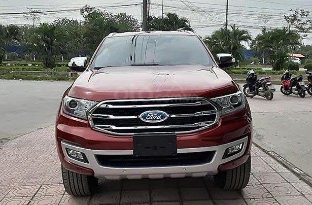 Bán Ford Everest Titanium 2.0L 4x2 AT đời 2019, màu đỏ, xe nhập0