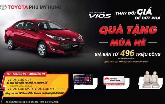 Bán Toyota Vios 1.5G CVT sản xuất năm 2019, màu đỏ