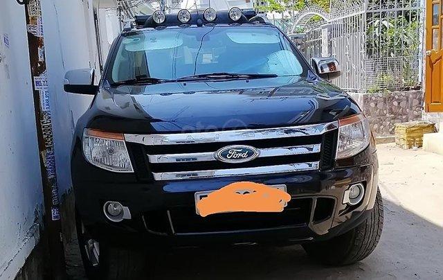Bán Ford Ranger XLT 2.2 sản xuất 2014, màu đen, nhập khẩu 0
