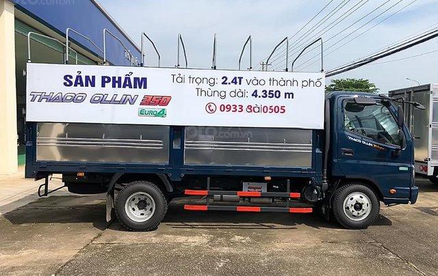 Bán ô tô Thaco OLLIN 2019, màu xanh lam, giá chỉ 354 triệu0