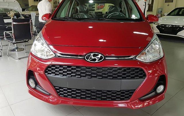 Bán Hyundai Grand i10 1.2 AT năm 2019, màu đỏ, giá 393tr0