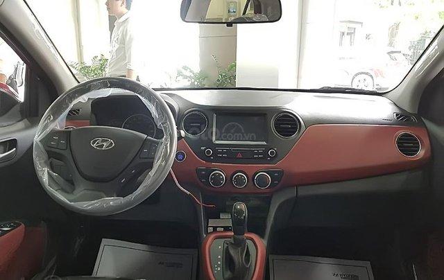 Bán Hyundai Grand i10 1.2 AT năm 2019, màu đỏ, giá 393tr1
