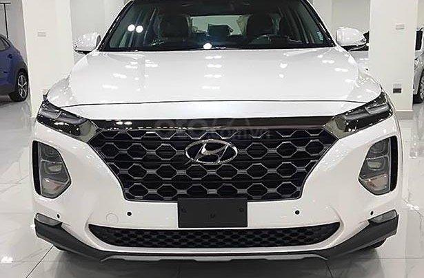 Bán ô tô Hyundai Santa Fe Premium 2.4L HTRAC năm 2019, màu trắng0