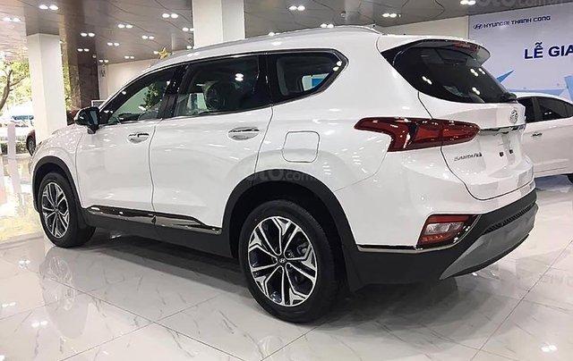 Bán ô tô Hyundai Santa Fe Premium 2.4L HTRAC năm 2019, màu trắng1