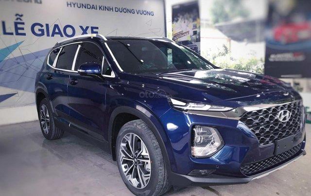 Hyundai Santafe sx 2019, cao cấp một màu xanh duy nhất tại thị trường, xe giao ngay, khuyến mãi khủng2