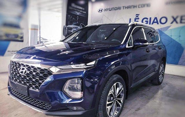 Hyundai Santafe sx 2019, cao cấp một màu xanh duy nhất tại thị trường, xe giao ngay, khuyến mãi khủng4