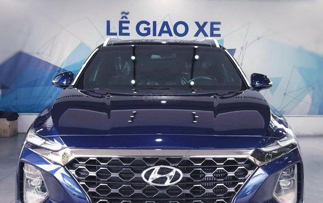 Hyundai Santafe sx 2019, cao cấp một màu xanh duy nhất tại thị trường, xe giao ngay, khuyến mãi khủng0