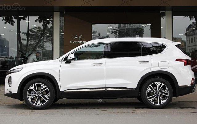 Bán ô tô Hyundai Santa Fe Premium 2.4L HTRAC đời 2019, màu trắng1
